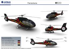直升飞机喷绘图案设计