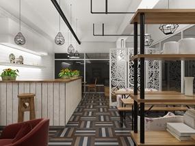 茶饮店装修效果图设计