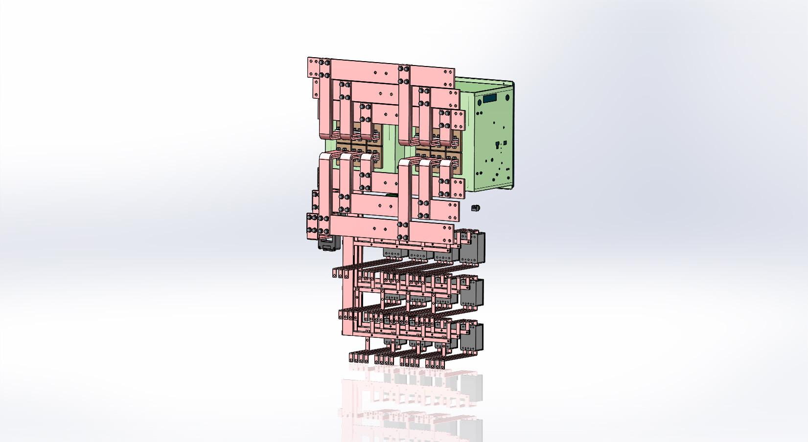 1250A输出智能模块化电气配电结构