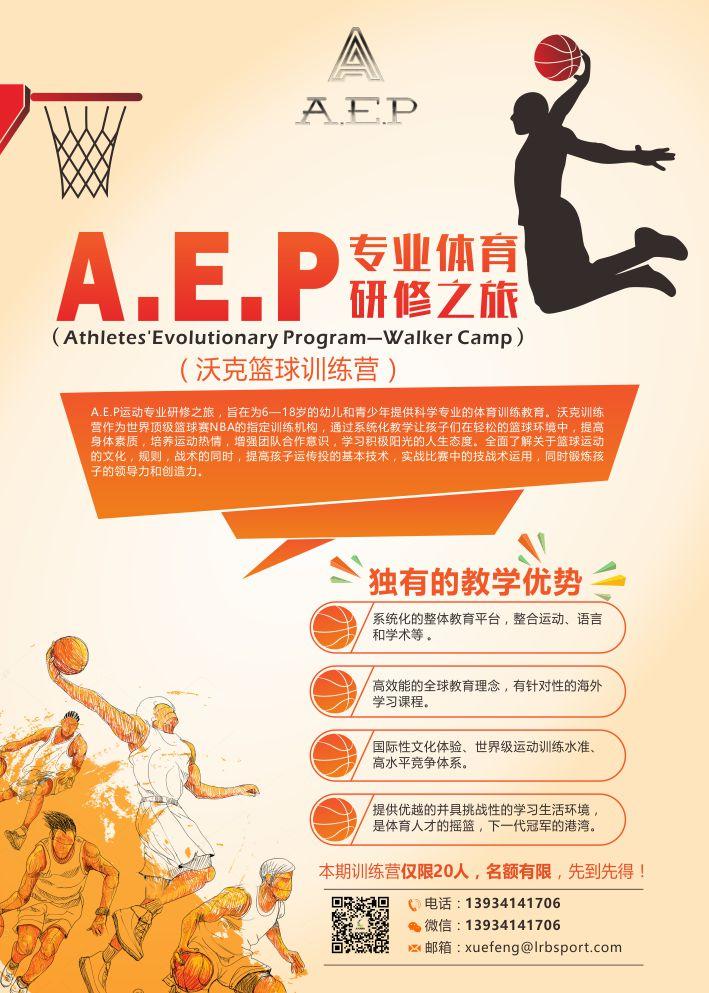 沃克篮球训练营海报