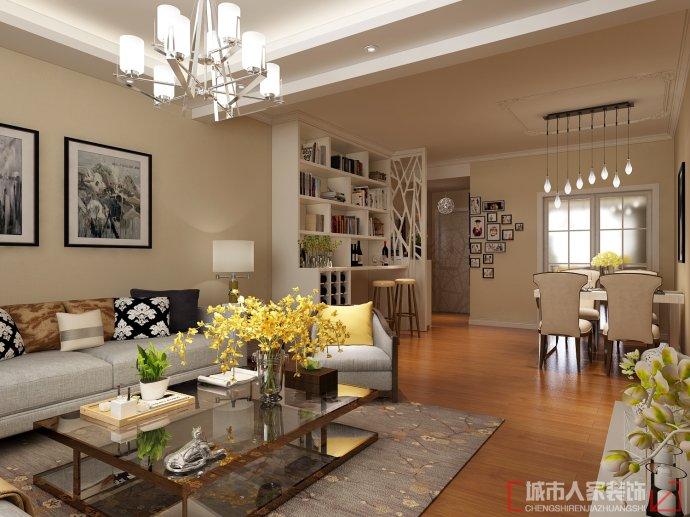 两室现代简约-咸阳城市人家家庭装修案例