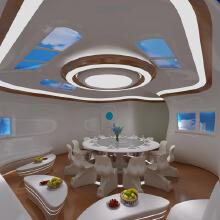 石家庄海洋餐厅空间装修设计