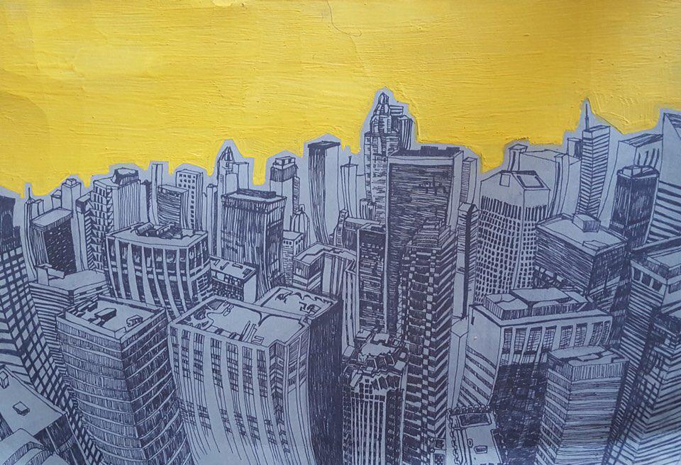城市环境系列手绘