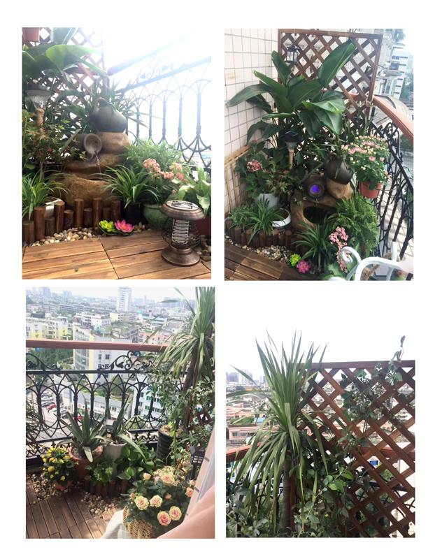 设计师自家阳台景观设计