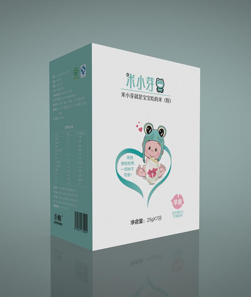 米小芽宝宝米包装设计