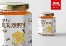 【腾计工作室原创设计】三宝蜂蜜标签设计