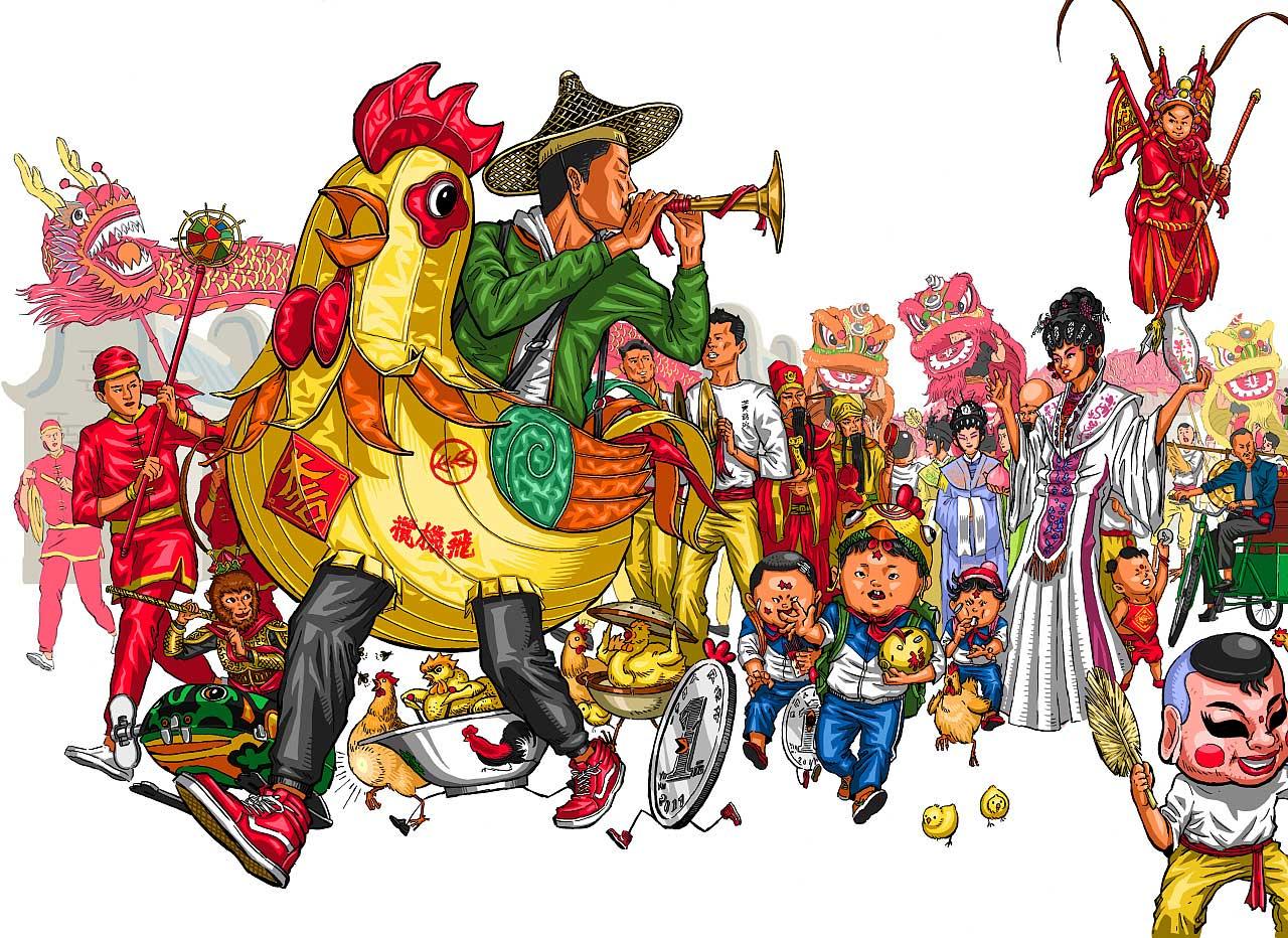 春节插画设计