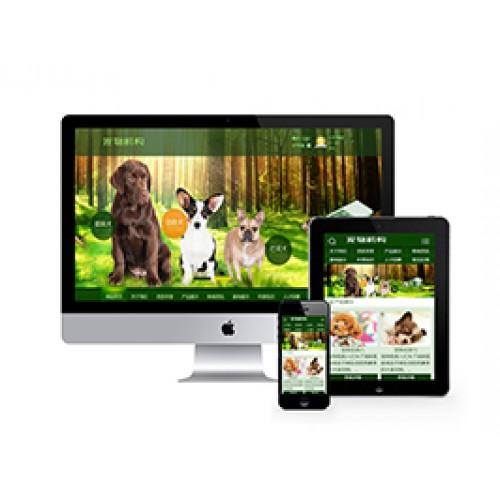 綠色寵物狗機構類網站(帶手機端)