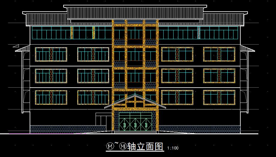 农村旅馆建筑施工图设计