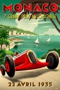 十张复古式赛车运动海报设计欣赏