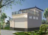 户外垃圾处理站效果图建筑外观设计效果图住宅外观效果图