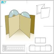 CD纸盒包装设计展开图