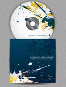 水墨泼画创意cd封面设计