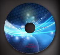 蓝色炫彩炫目cd封面设计素材