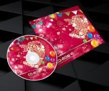 爱心婚庆cd封面设计