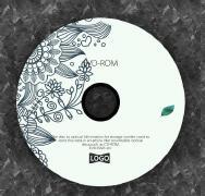 花纹复古绿叶丛生cd封面设计案例欣赏