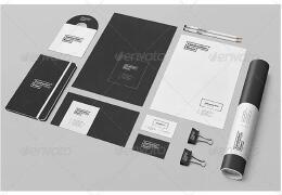 黑白简约公司vi设计模板欣赏