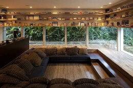 创意室内设计:带落地玻璃窗的书房