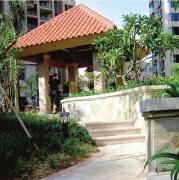 廊亭水池喷泉雕塑俯瞰景观欣赏