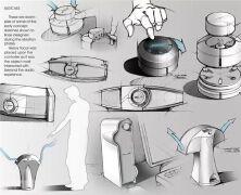 手绘工业设计展板