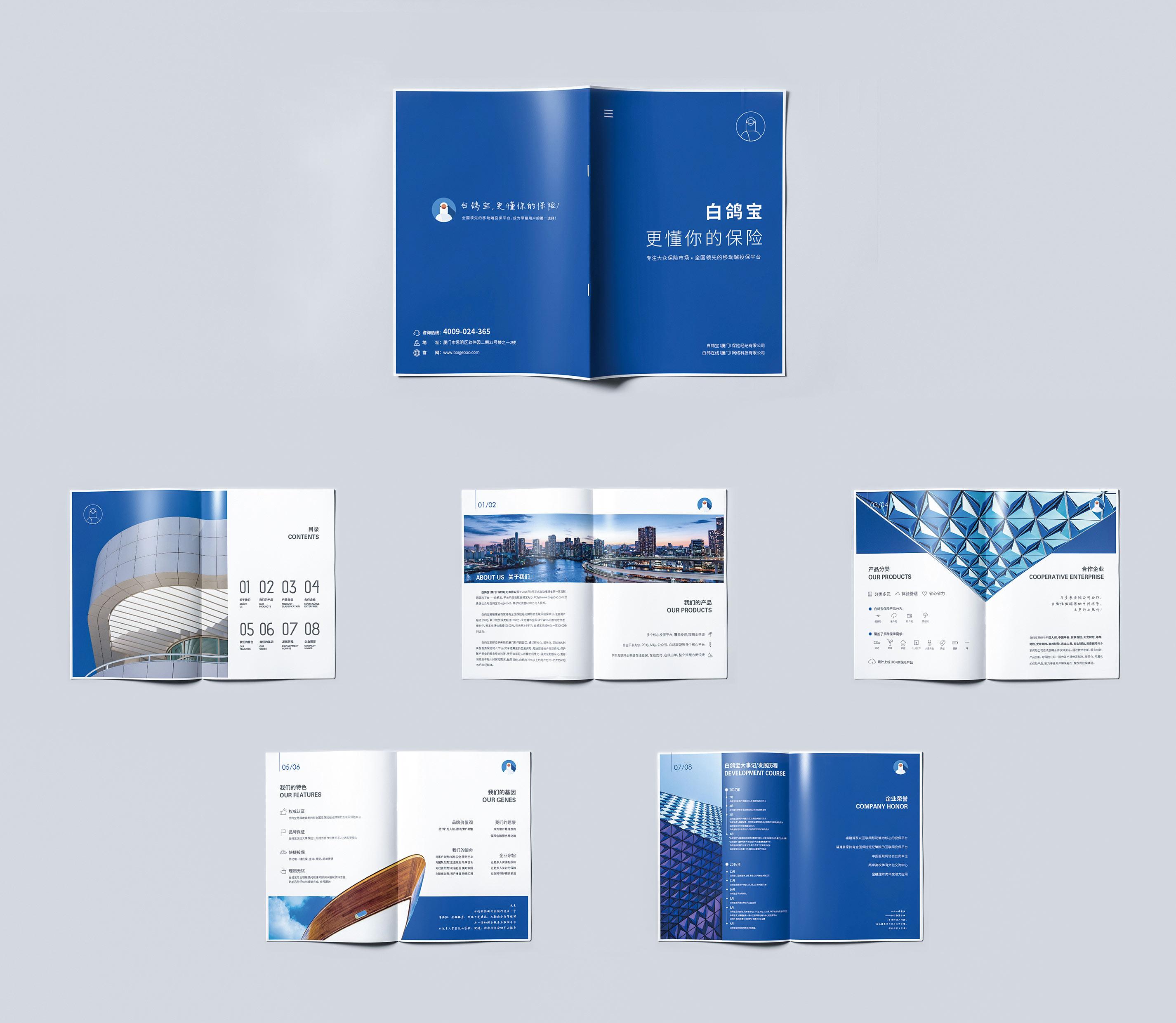 保险行业企业画册