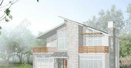 带阁楼农村二层房屋设计图平面效果图