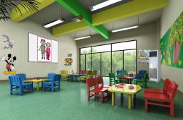 为什么国外幼儿园室内设计的吊饰和墙面挂饰少?