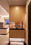欧式三室一厅玄关鞋柜家装设计图