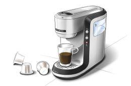 咖啡机工业设计手绘