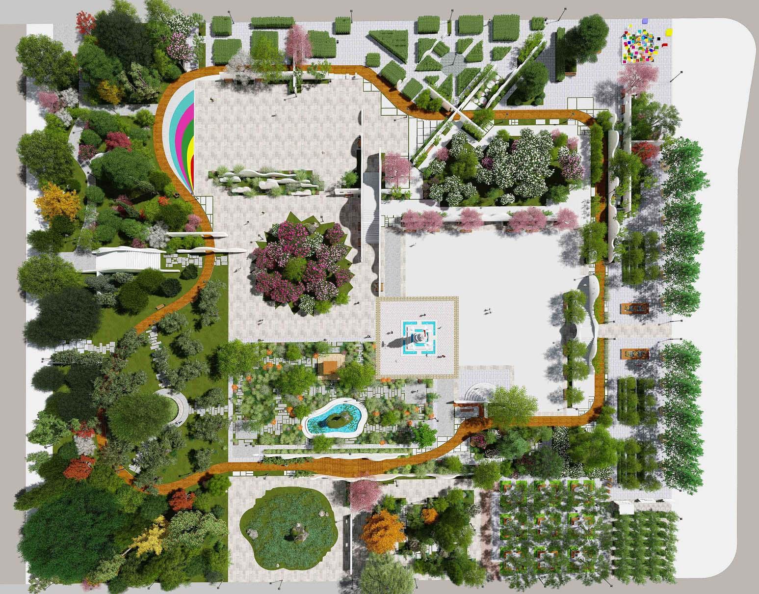 学校游园改造
