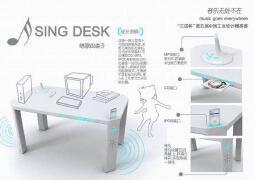 唱歌的桌子工业设计展板
