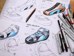 鞋工业设计手绘