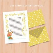 圣诞可爱信封设计