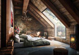 漂亮的阁楼卧室装修设计