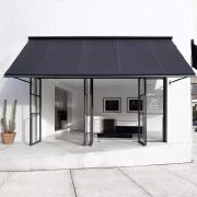 黑白双色搭配再加个顶棚的门面设计作品