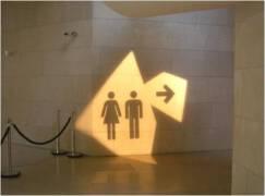 国外卫生间创意标识设计