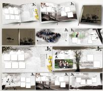 大学纪念册通讯录设计