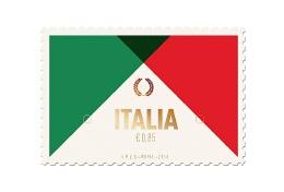 极简扁平化风格邮票图案设计