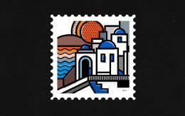 Mike Karolos漂亮的插画邮票设计