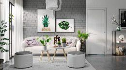 轻松时尚的灰色系客厅装修设计