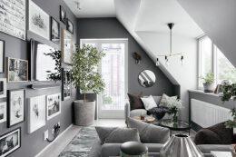 灰色调阁楼公寓设计