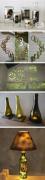 一组以玻璃瓶为主题的创意DIY