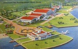 怀旧欣赏:机场和飞机的老式明信片设计