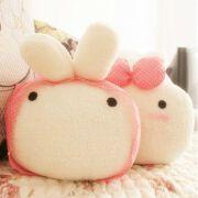 情侣饭团兔抱枕/靠垫