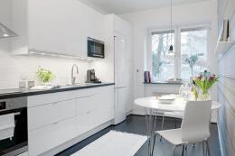 清新明亮的家庭厨房装修设计风格