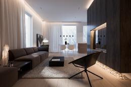 简约风格现代中式公寓装修效果图欣赏