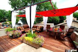 简约中式风格私家花园装修图片