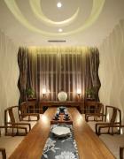 中式家庭茶室效果图装修
