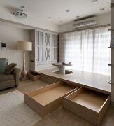 5款看起来特别舒服的卧室榻榻米床装修效果图