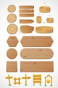 今年很火的木板木纹路牌设计素材